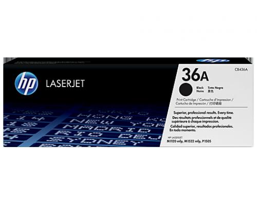 Оригинальный лазерный картридж HP 36A  LaserJet черный