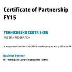 Business Partner компании Hewlett-Packard  на 2015 год